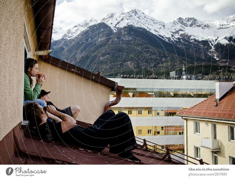 unser kleines paradies... Mensch Frau Mann Jugendliche Freude Erwachsene Erholung feminin Leben Berge u. Gebirge Menschengruppe Freundschaft Wohnung
