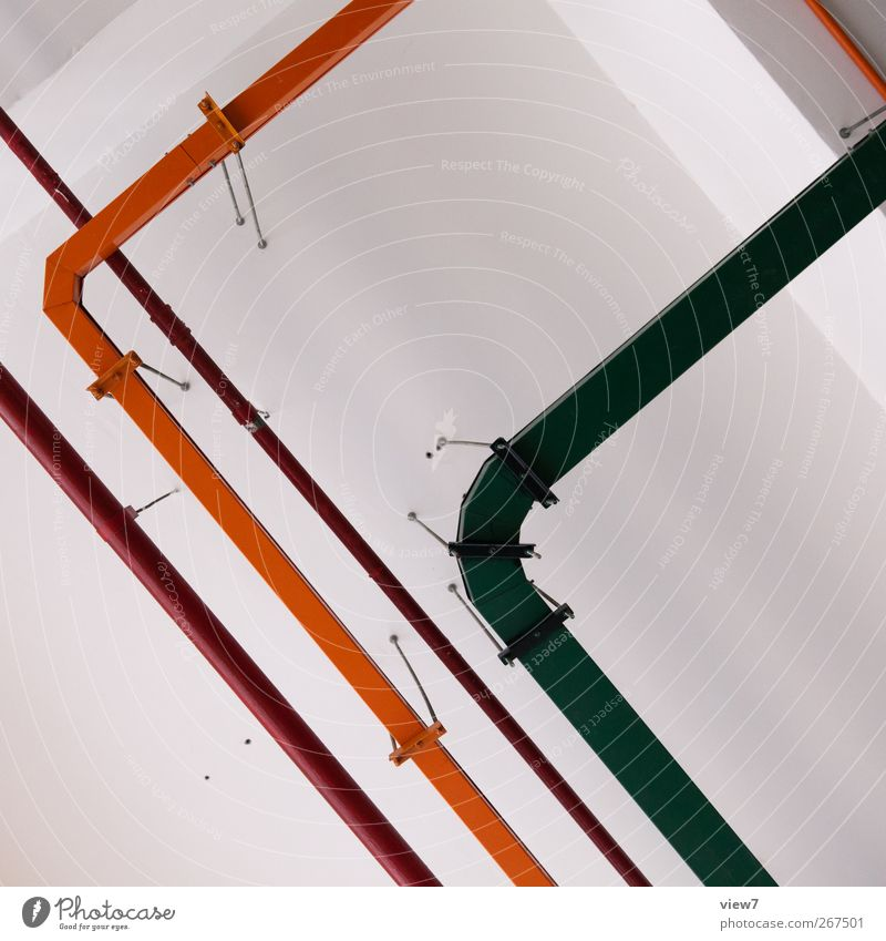 leitend Industrie Baustelle Energiewirtschaft Bauwerk Gebäude Architektur Mauer Wand Fassade Stein Beton Metall Linie Streifen authentisch einfach frisch modern