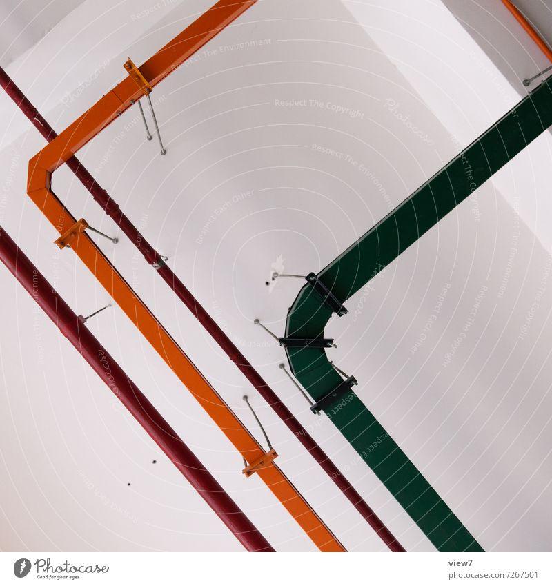 leitend Wand Architektur Stein Mauer Gebäude Metall Linie Fassade Energiewirtschaft Ordnung Beton Design frisch modern ästhetisch authentisch