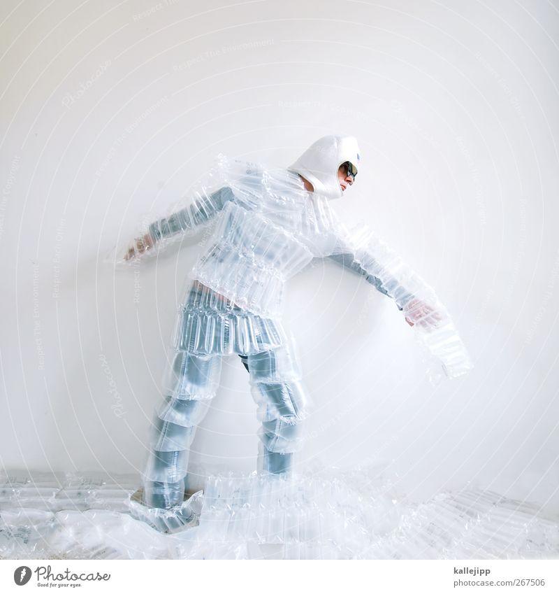 walking on the moon Mensch Mann weiß Erwachsene Körper Arbeit & Erwerbstätigkeit gehen laufen maskulin Zukunft Wissenschaften Statue Mond Karnevalskostüm Kunst Astronaut