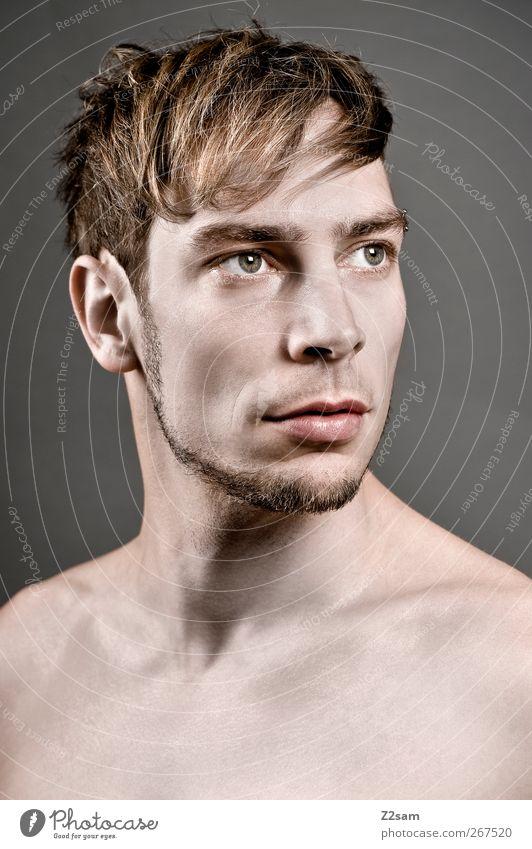 about:blank Mensch Jugendliche ruhig Gesicht Erwachsene nackt grau Haare & Frisuren Stil träumen blond Kraft elegant maskulin frisch modern