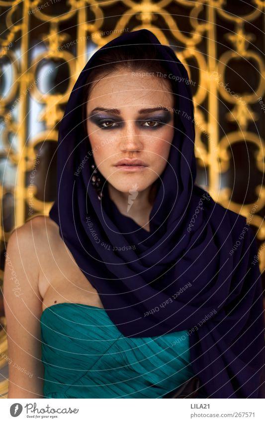Lady Lifestyle Reichtum elegant Stil schön Kosmetik Schminke Mensch feminin Junge Frau Jugendliche Erwachsene 1 Künstler Topkapi Serail Türkei Europa Stadt Dom