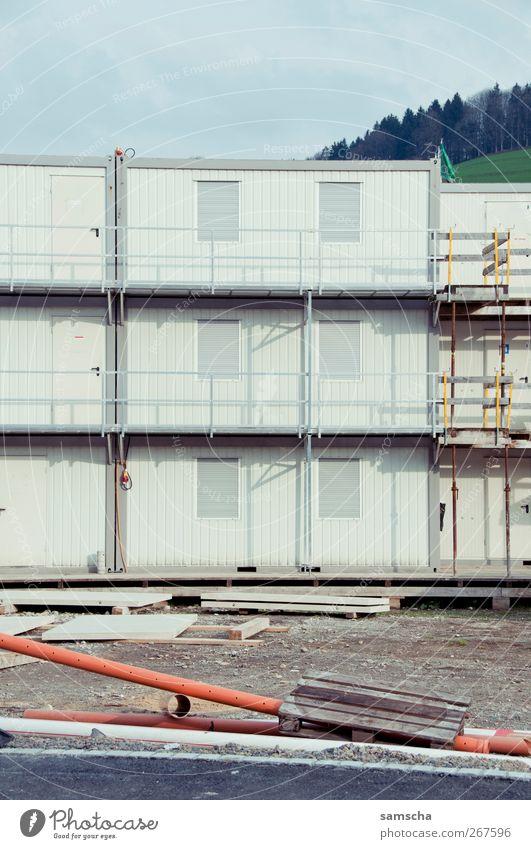 Baucontainer Stadt Frühling Architektur Gebäude Büro Arbeit & Erwerbstätigkeit Häusliches Leben planen Wandel & Veränderung Baustelle Beruf machen Handwerk Werkzeug Material Stadtzentrum