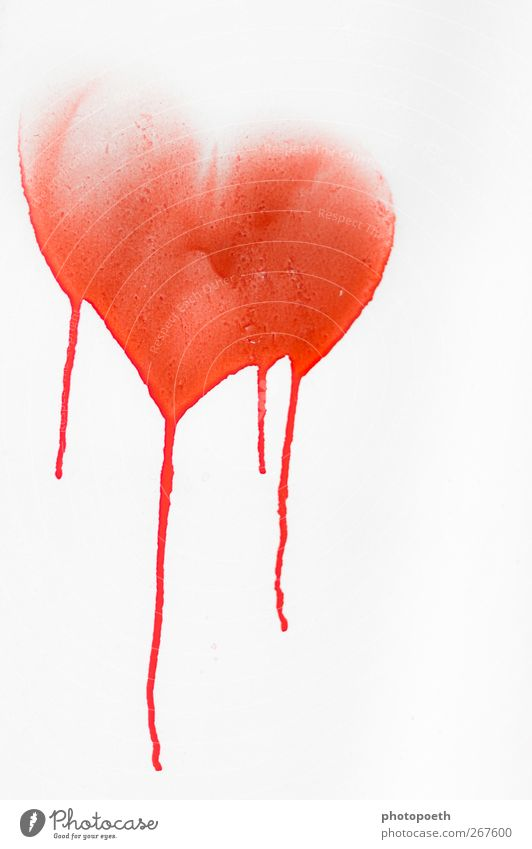 Herzblut rot Einsamkeit Traurigkeit Liebe Gefühle Graffiti Glück Romantik Zeichen Trauer Sehnsucht Leidenschaft Verliebtheit Liebeskummer Farbfleck