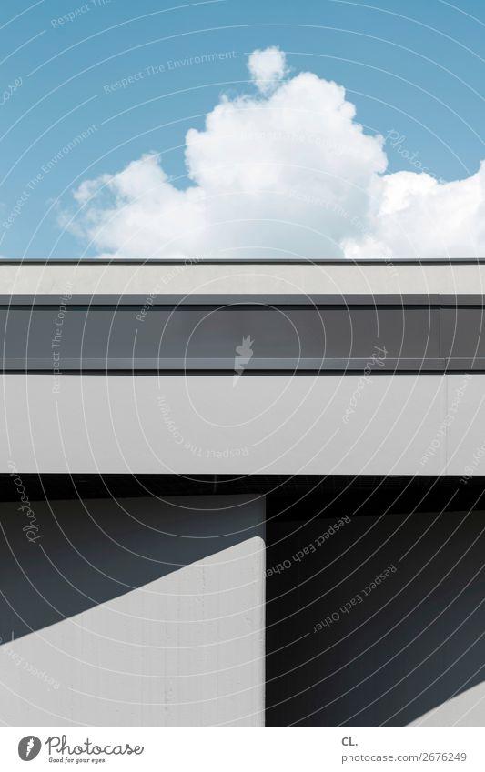 gebäude und himmel Museum Himmel Wolken Wetter Schönes Wetter Duisburg Stadt Menschenleer Haus Bauwerk Gebäude Architektur Mauer Wand Fassade ästhetisch eckig