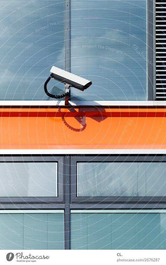 elektronische lebensaspekte Stadt Fenster Architektur Gebäude Fassade Technik & Technologie Ordnung gefährlich bedrohlich Schutz Sicherheit Zukunftsangst