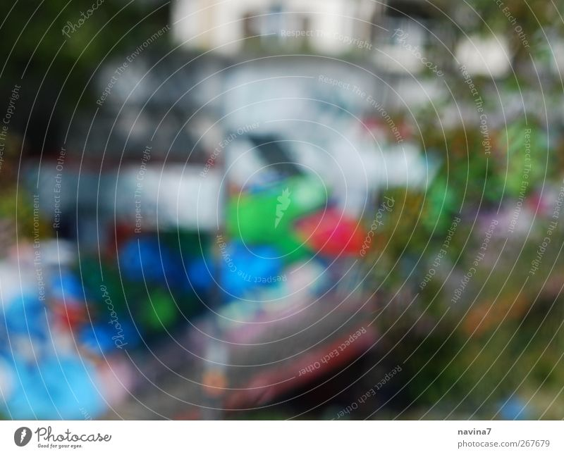 Bunt Kunst Gemälde Mauer Wand Graffiti zeichnen Fröhlichkeit mehrfarbig Farbfoto Außenaufnahme Menschenleer Tag Unschärfe