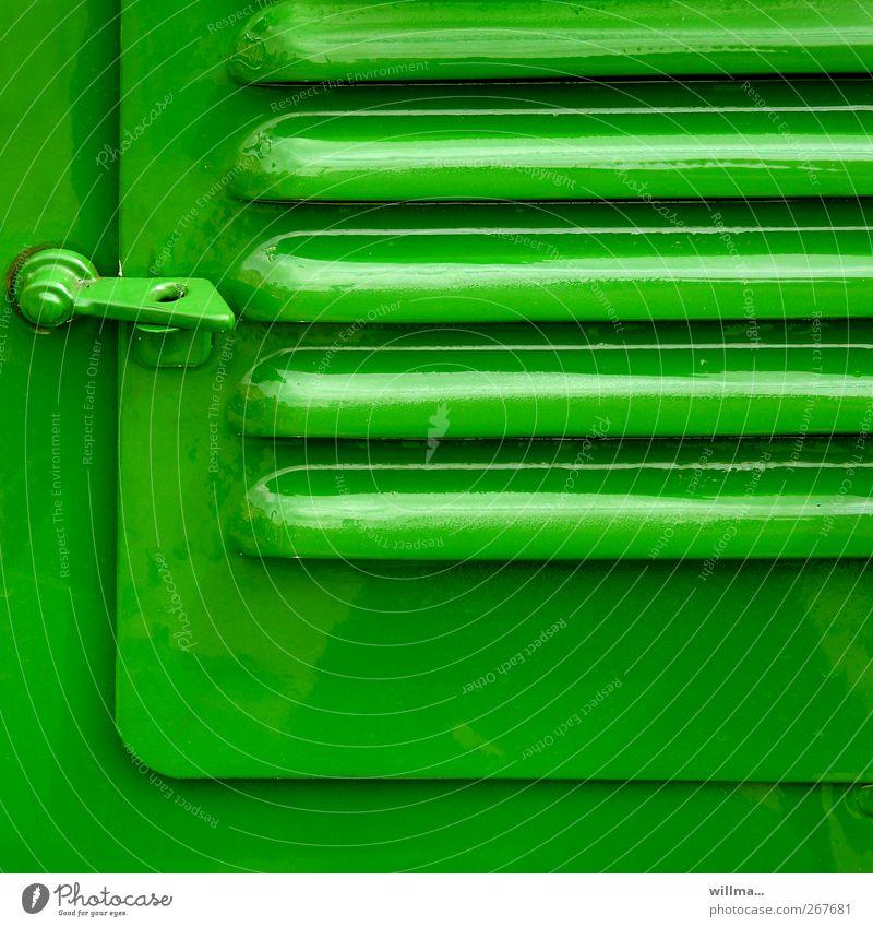 knallgrün Farbe geschlossen Fahrzeug Traktor Lüftung Verschluss Lüftungsschlitz Lüftungsklappe