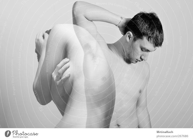 DON'T BREAK MY LOVE. Mensch maskulin feminin androgyn Junge Frau Jugendliche Junger Mann Erwachsene Paar Partner Leben Körper Haut Rücken Brust Frauenbrust Arme