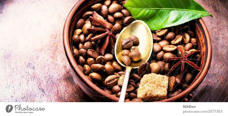 Kaffee.geröstete Kaffeebohnen Bohne trinken Koffein Espresso braun Samen dunkel Café gebraten Aroma Ernte Makro Korn Tasse Braten aromatisch arabisch Geschmack