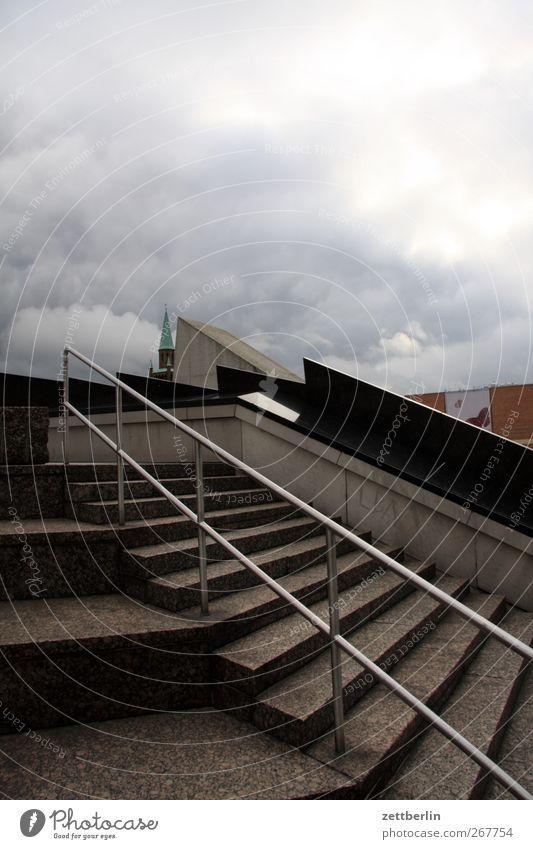 Kulturforum Berlin Stadt Himmel (Jenseits) Wolken Haus Wand Architektur Gebäude Mauer Treppe Platz Geländer Bauwerk gut Wahrzeichen Stadtzentrum Sehenswürdigkeit