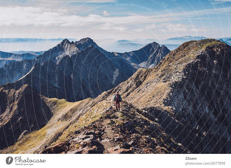 Aufstieg auf den Gipfel des Hirzer Freizeit & Hobby Ferien & Urlaub & Reisen Expedition Berge u. Gebirge wandern Klettern Bergsteigen maskulin Natur Landschaft