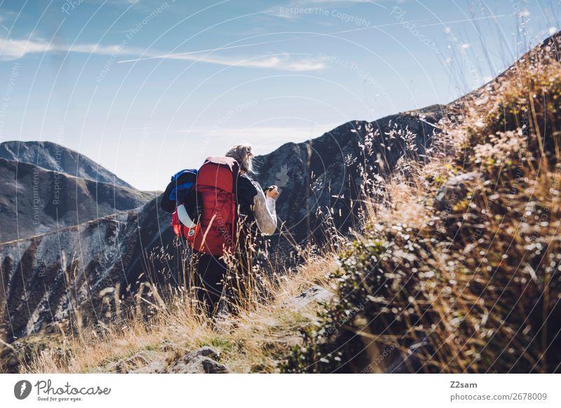 Alpenüberquerung E5   Hirzer   Südtirol Ferien & Urlaub & Reisen Natur Jugendliche Junge Frau Landschaft Berge u. Gebirge 18-30 Jahre Lifestyle Erwachsene
