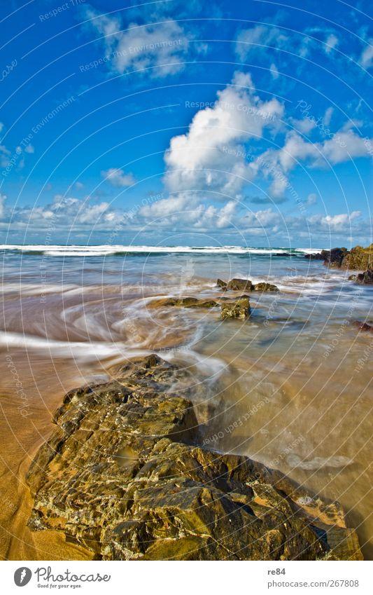 Im Laufe der Gezeiten harmonisch Erholung Ferien & Urlaub & Reisen Freiheit Sommer Strand Meer Insel Wellen Umwelt Natur Landschaft Urelemente Sand Wasser