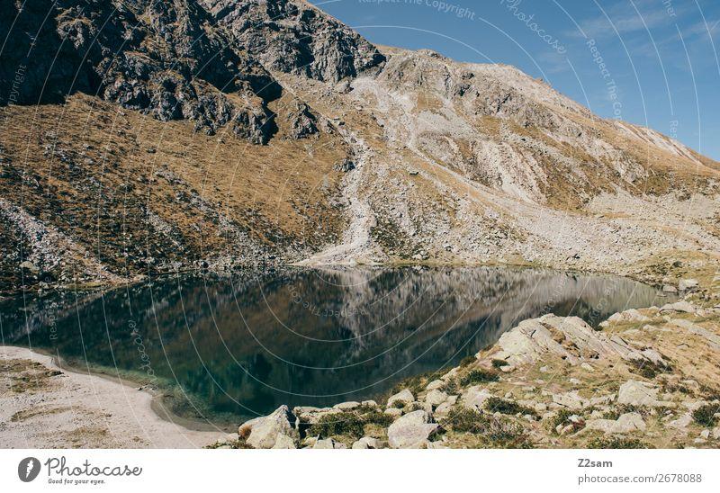 Bergsee / Hirzer Meran Berge u. Gebirge wandern Umwelt Natur Landschaft Himmel Sommer Schönes Wetter Alpen See Gebirgssee Erholung ästhetisch nachhaltig