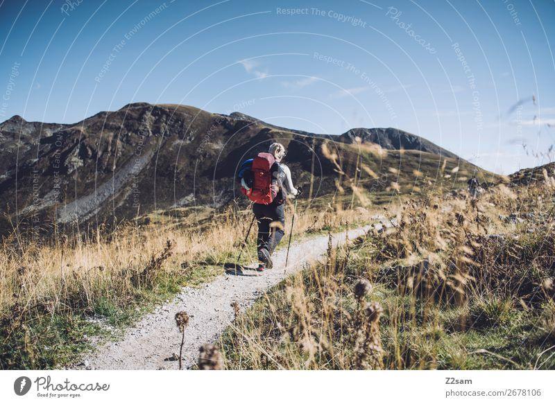Wandern im Meran 2000 Lifestyle elegant Stil Ferien & Urlaub & Reisen Sommer Berge u. Gebirge wandern Klettern Bergsteigen feminin 18-30 Jahre Jugendliche