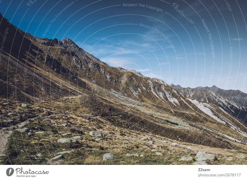 Bergpanorama in Südtirol | E5 Alpenüberquerung wandern Klettern Bergsteigen Natur Landschaft Himmel Sommer Schönes Wetter Berge u. Gebirge Gipfel nachhaltig