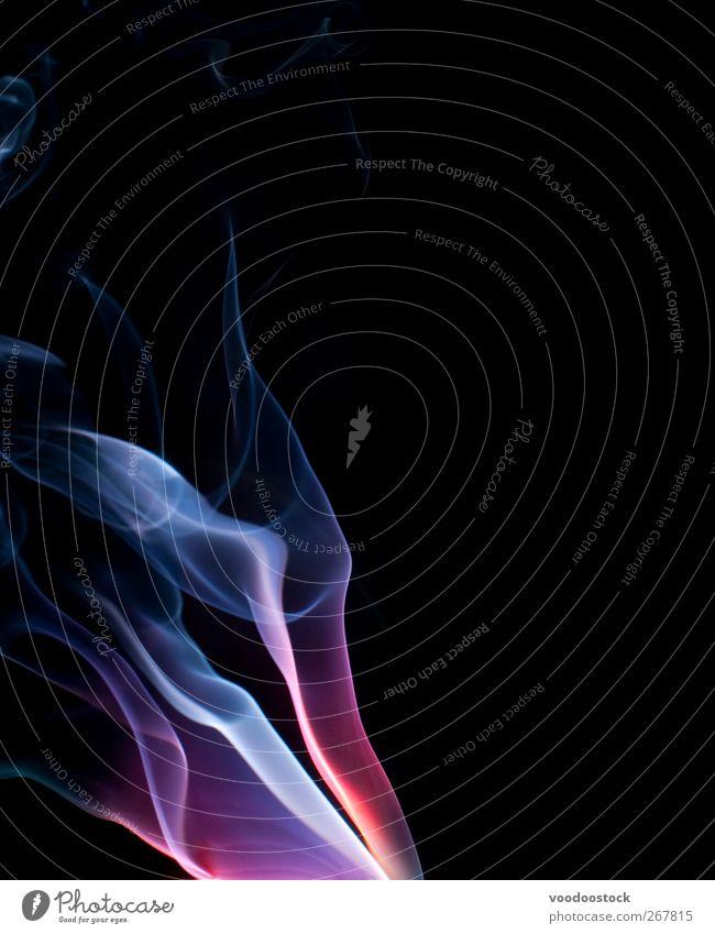 Ätherisches Farbfeld Nebel Wege & Pfade hell blau rosa rot Farbe Verbrennung filigran dynamisch Einfluss ätherisch fließen Formular Dämpfe zierlich strohig