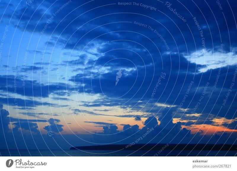 Formentera sunset Himmel Natur Wasser Ferien & Urlaub & Reisen Sonne Meer Sommer Strand Wolken Erholung Landschaft Küste Stimmung Horizont Insel Tourismus