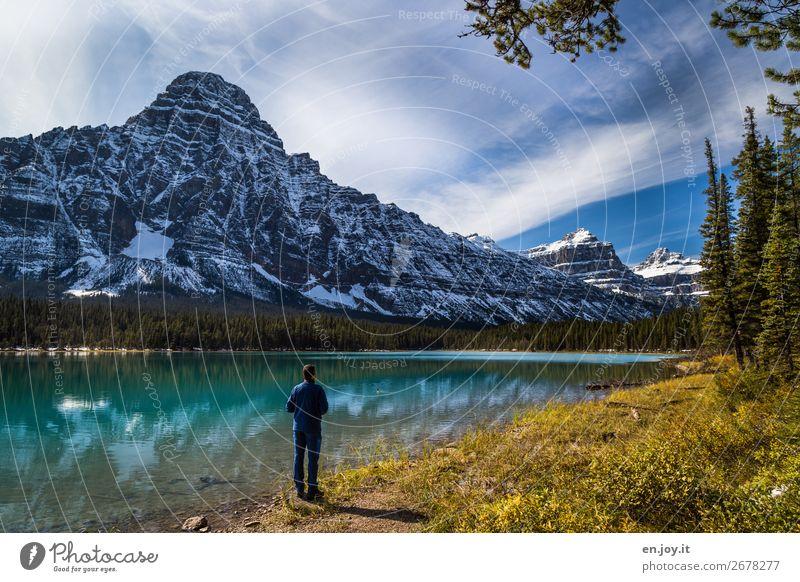 Mal ohne Wolken Ferien & Urlaub & Reisen Tourismus Ausflug Abenteuer Ferne Freiheit Expedition Berge u. Gebirge Natur Landschaft Herbst Schönes Wetter