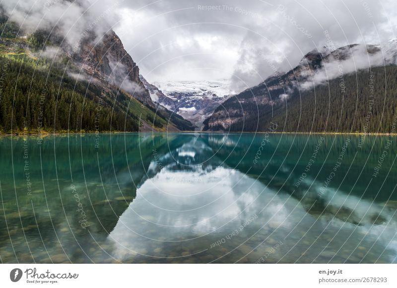 Gletschersee Ferien & Urlaub & Reisen Ausflug Ferne Umwelt Natur Landschaft Urelemente Himmel Wolken Herbst Klima Klimawandel Nebel Berge u. Gebirge See