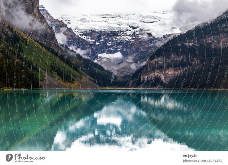 Verkehrte Welt | oben wie unten Ferien & Urlaub & Reisen Ausflug Expedition Berge u. Gebirge Natur Landschaft Klima Klimawandel Felsen Rocky Mountains Gletscher