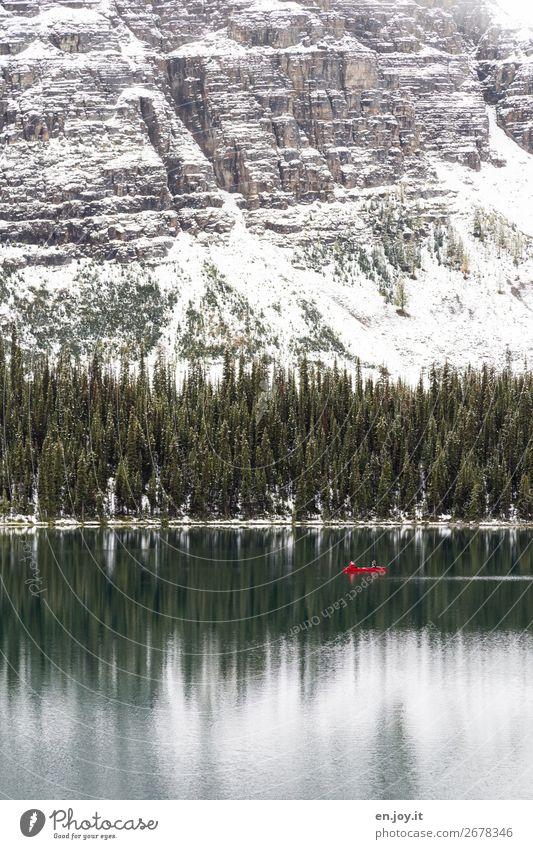 frei sein Ferien & Urlaub & Reisen Natur Landschaft Wald Winter Ferne Berge u. Gebirge Schnee Tourismus Freiheit See Ausflug Freizeit & Hobby Abenteuer