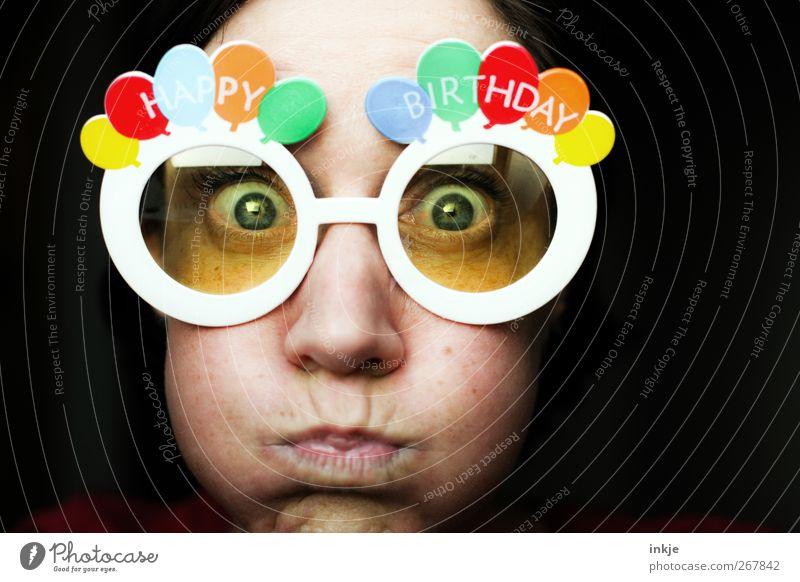 alter Schwede... VIERZIG??? Lifestyle Freude Freizeit & Hobby Feste & Feiern Geburtstag Leben Gesicht 1 Mensch 30-45 Jahre Erwachsene Luftballon Brille