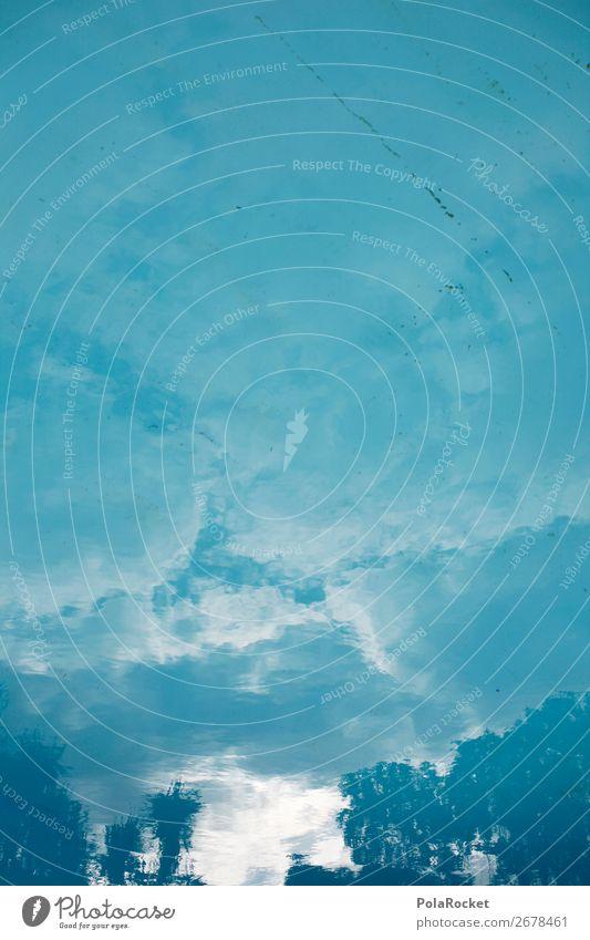 #AS# Blaue Stunde Kunst ästhetisch Schwimmbad blau Blauer Himmel Reflexion & Spiegelung Urlaubsfoto Urlaubsstimmung Urlaubsort Wasser Wasseroberfläche Farbfoto