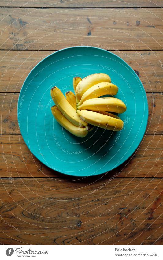 #AS# Bananaaaaaa Lebensmittel Essen Tisch Holz gelb Banane Bananenschale Frucht Gesunde Ernährung viele blau gemütlich Bewusstsein ästhetisch altehrwürdig