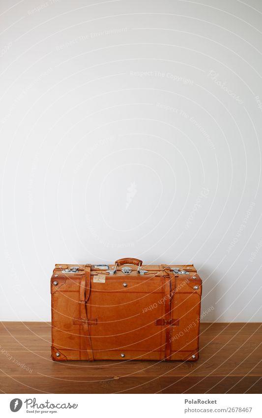 #AS# Koffer sucht Partner Leder ästhetisch Reisefotografie reisend Nostalgie altehrwürdig Vorbereitung Reisefieber packen Güterverkehr & Logistik Reiseroute