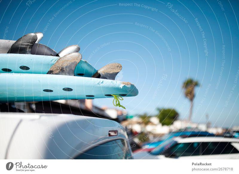 #AS# Kaffee-Pause Kunst Kunstwerk ästhetisch Surfen Surfer Surfbrett Surfschule Ferien & Urlaub & Reisen Urlaubsstimmung blau Sommer Strand Ausflug Fernweh