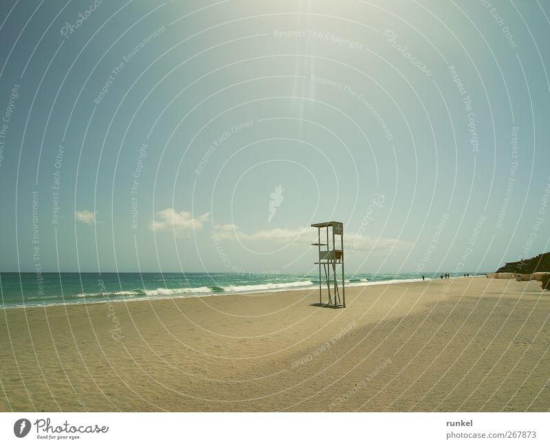 Siesta Ferien & Urlaub & Reisen Tourismus Ferne Freiheit Sommerurlaub Sonne Strand Meer Wellen Sand Wasser Wolkenloser Himmel Schönes Wetter Atlantik Insel