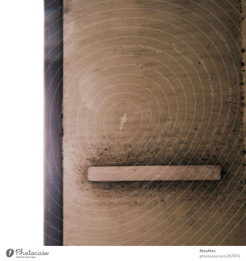 michael ist doof Beton Stahl Kunststoff hell braun grau weiß Brücke Aussenlampe Lampe dreckig Spinnennetz Ruß Wassertropfen Reflexion & Spiegelung Regenwasser
