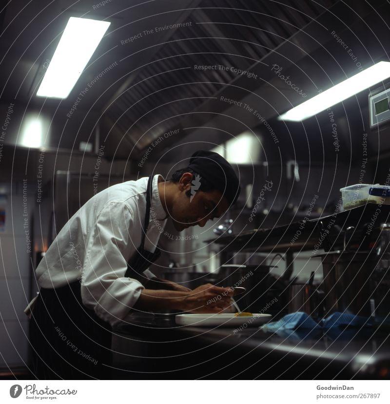 Aleemi. Mensch Jugendliche Junger Mann Arbeit & Erwerbstätigkeit maskulin authentisch Küche Beruf Arbeitsplatz Tatkraft Koch Verantwortung seriös