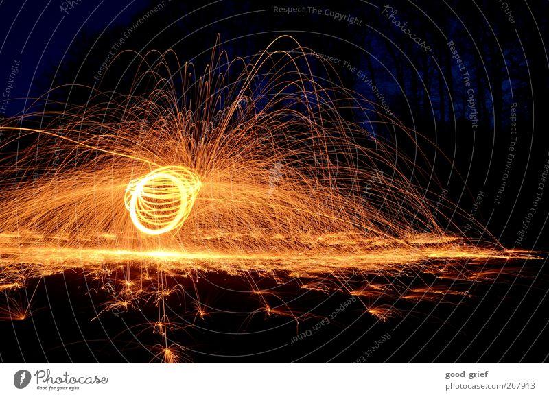 lichterscheinung deluxe Silvester u. Neujahr Bewegung leuchten Kreis kreisen abstrakt Farbfoto Außenaufnahme Experiment Menschenleer Nacht Licht Schatten