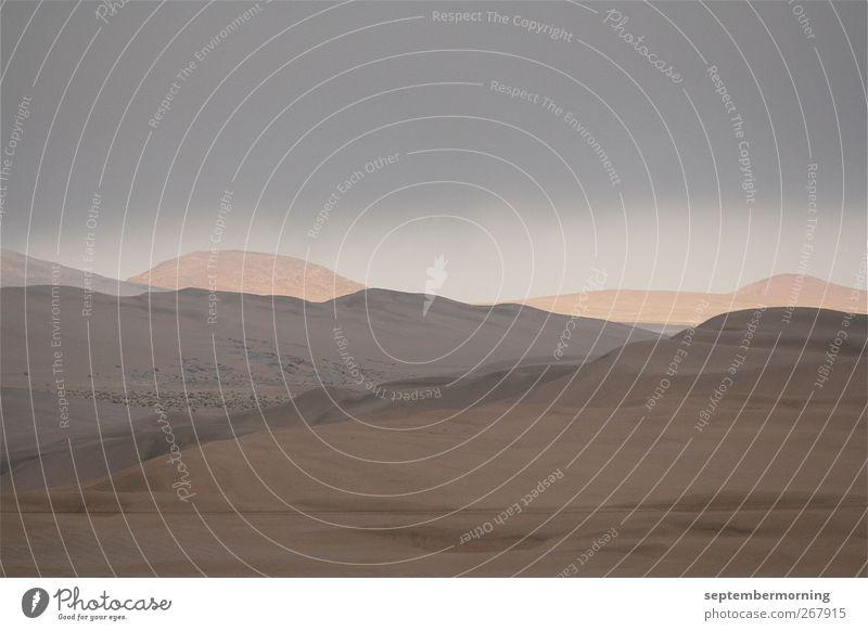 Namib Ferne Landschaft Sand braun Erde weich Hügel trocken Dürre