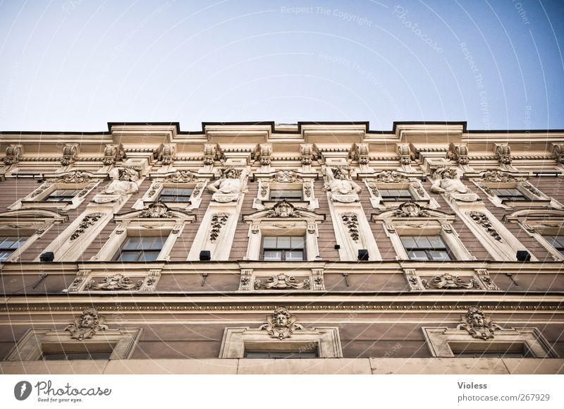 Angelwall Fenster Wand Architektur Mauer Gebäude Fassade Engel Hotel Geborgenheit Stuck St. Petersburg
