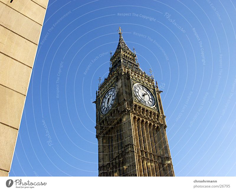 Big Ben I Architektur Turm London England Großbritannien