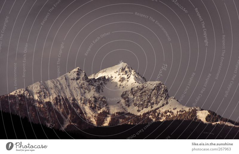 die neue TOBLERONE mit 3 gipfeln! Umwelt Natur Landschaft Urelemente Wolkenloser Himmel Winter Schnee Alpen Berge u. Gebirge Gipfel Schneebedeckte Gipfel groß