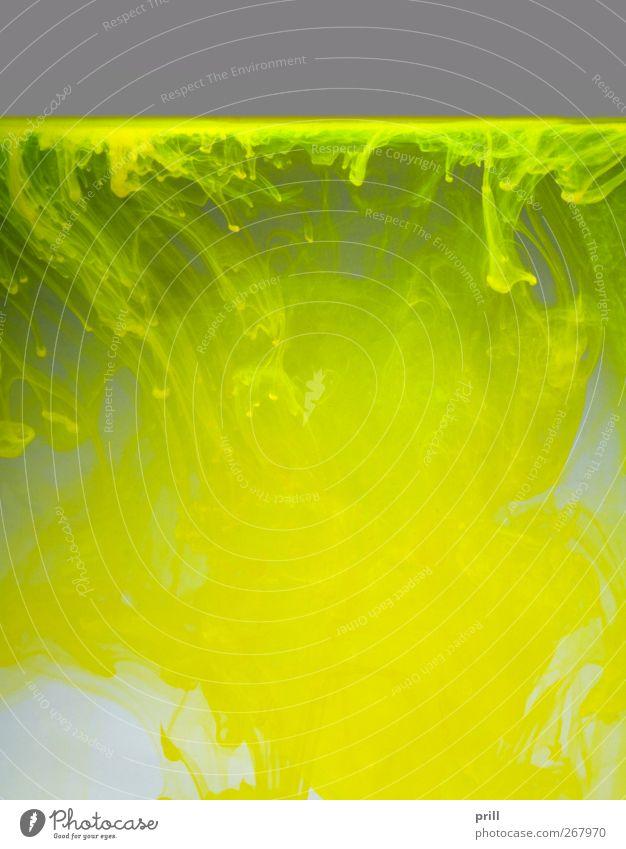 colorful contamination grün Wasser Wolken gelb Farbstoff Beleuchtung Hintergrundbild grau dreckig Textfreiraum Verfall Wissenschaften Flüssigkeit Physik