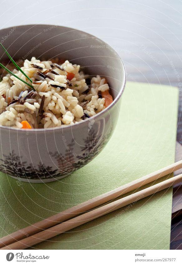 Wildreis Gemüse Getreide Ernährung Mittagessen Abendessen Vegetarische Ernährung Diät Asiatische Küche Schalen & Schüsseln Essstäbchen Serviette frisch