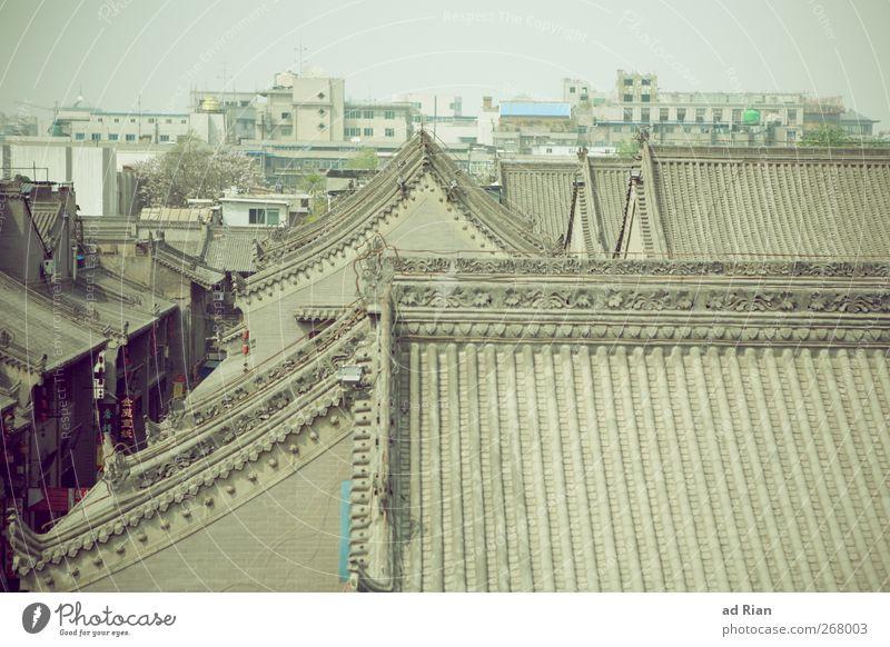 Xi'an China Stadt Altstadt Skyline Bauwerk Gebäude Architektur Mauer Wand Dach Dachrinne Schornstein historisch Tradition alt Farbfoto Außenaufnahme Totale