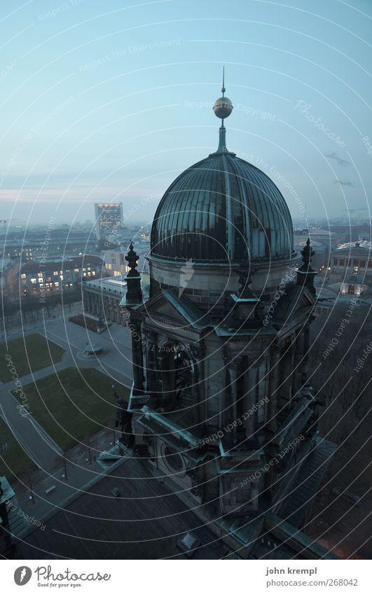 Baikonur blau Berlin Architektur Religion & Glaube Gebäude Kunst groß Wandel & Veränderung Macht Vergänglichkeit Kultur Bauwerk Sehnsucht Bundesadler Mut