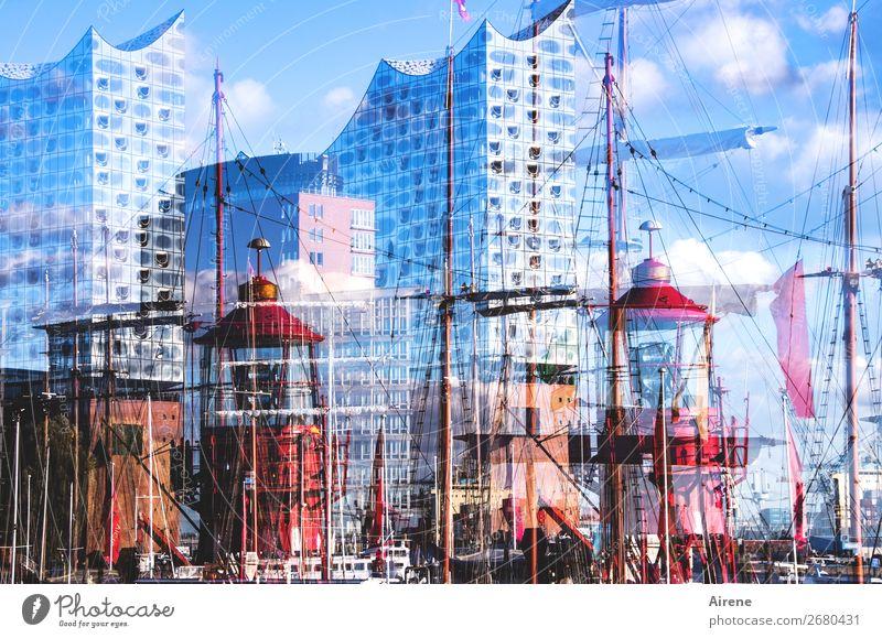 wohltemperiert Sightseeing Städtereise Musik Konzerthalle Schönes Wetter Hamburger Hafen Hafenstadt Skyline Architektur Sehenswürdigkeit Elbphilharmonie