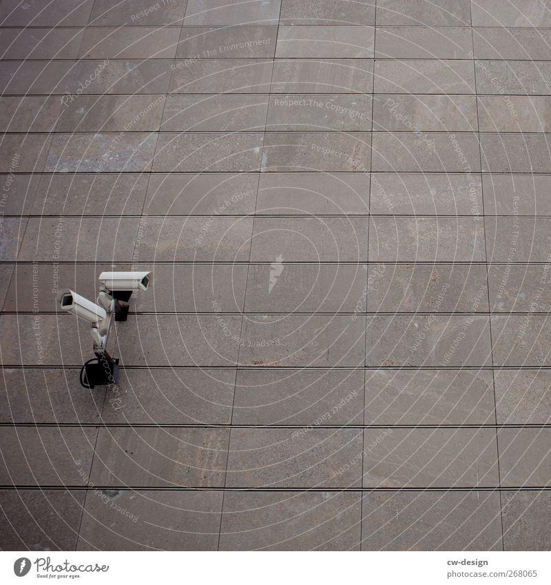 I'll Always Know What You Did Last Summer kalt Wand Architektur grau Mauer Fassade Zukunft Kommunizieren Telekommunikation Technik & Technologie Fotokamera hören Wachsamkeit Informationstechnologie Kontrolle Videokamera