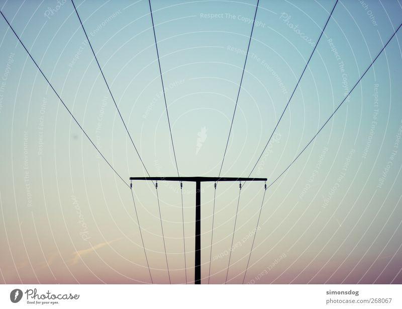 gebündelt Energiewirtschaft schwarz Klima Wandel & Veränderung Strommast Elektrizität Umwelt führen Stahlkabel Leiter Hochspannungsleitung Technik & Technologie