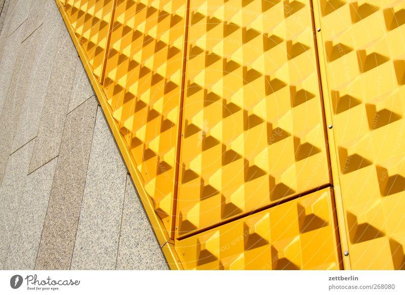 Philharmonische Fassade Stadt Stadtzentrum Haus Bauwerk Gebäude Architektur Mauer Wand Sehenswürdigkeit Wahrzeichen Denkmal gut Berliner Philharmonie gelb Gold