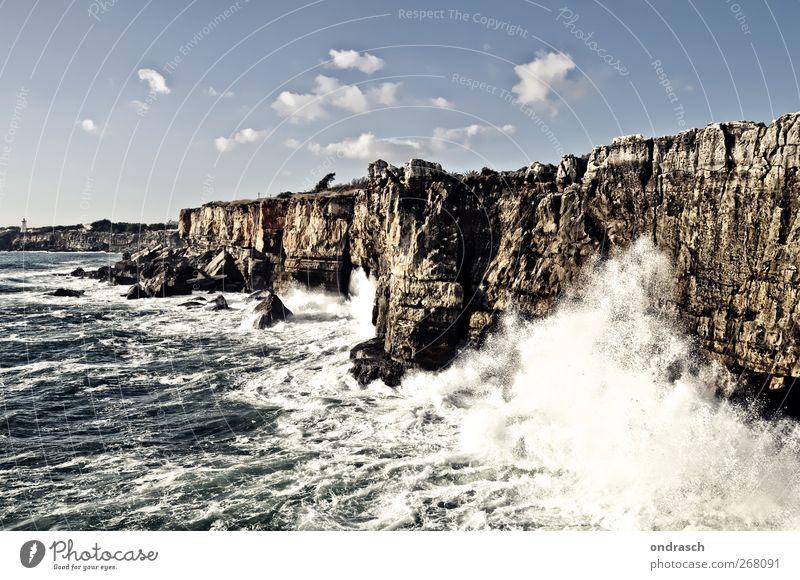 Boca do Inferno | Lisboa Himmel Ferien & Urlaub & Reisen blau Sommer Wasser Meer Ferne Frühling Küste grau Freiheit Horizont Tourismus Wellen Ausflug Abenteuer
