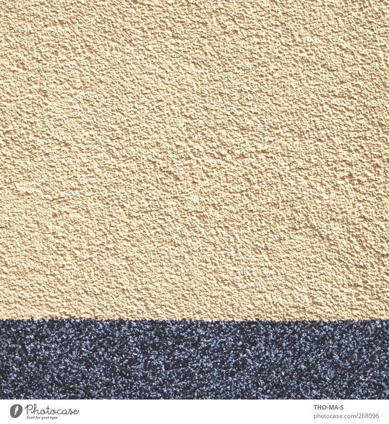 Alles nur Fassade schwarz Haus gelb Wand Sand Stein Mauer Gebäude Beton Design gut trist Streifen Denkmal Wahrzeichen